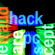 Stock Photo: Hack concept