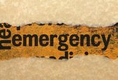 Emergency torn paper — Stock Photo