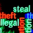 Stock Photo: Steal illegal web