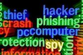 Hacker phishing computer — Stock Photo