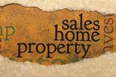 концепция продажи дома собственности — Стоковое фото
