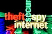 Roubo espião internet — Fotografia Stock
