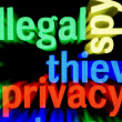 Stock Photo: Illegal Privacy