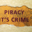 Piracy crime — Stock Photo