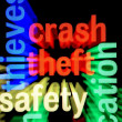 Crash theft safety — Stock Photo #18990727
