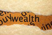 Wealth concept — Stock Photo