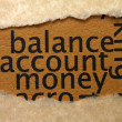 Ballance account money — Foto de Stock