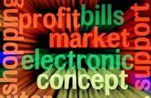 Concepto de mercado y ganancias electrónico — Foto de Stock