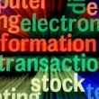 Stock Photo: Electronic information transaction