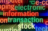 Electronic information transaction — Stock Photo