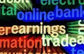 Online earnings trade — Stock Photo