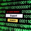 Search for export — Foto de stock #19659003