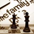 Family chess concept — Stock Photo