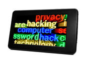 Hacking Tablet pc — Stock Photo