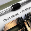 Child abuse form — Stock Photo #20043435