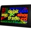 Stock Photo: Debit pc trade