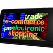 E-commerce electronic pc tablet — Stock Photo