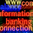 Balance information banking - Stock Photo
