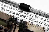 Child abuse form — Stock Photo