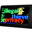 Illegal thieve privacy — Stock Photo