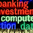 Stock Photo: Banking investment computer