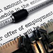 offer of employment — Stock Photo