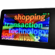 Stock Photo: Shopping transaction technology