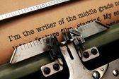 Writer story — Stock Photo