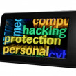 Stock Photo: Hack protection