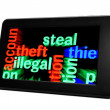 Stock Photo: Steal illegal theft