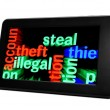 Steal illegal theft — Stock Photo