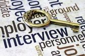 Interview and key concept — Stock Photo