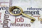 Job and key concept — Stock Photo