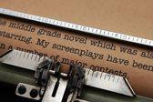 Screenplay letter — Stock Photo