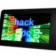 Stock Photo: Hack on pc tablet