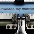 Manuscript on typewriter machine — Stock Photo