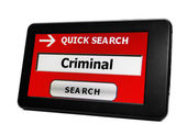 Search for criminal — Stock Photo