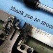 Thank you letter — Stock Photo