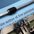 Author letter to publisher — Foto Stock