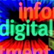 Digital word on abstract led screen — Stock Photo #22177831