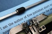 Author letter to publisher — Stock Photo