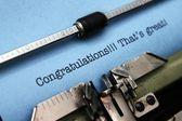 Congratulation — Stock Photo