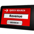 Revenue on pc tablet — Stock Photo #22572257