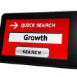 Growth search — Stock Photo
