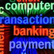 Transaction banking payment — Stock Photo