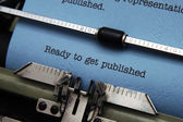 Ready to get published — Stock Photo