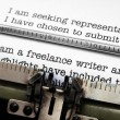 Freelance writer letter — Stock Photo
