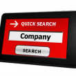 Search for company — Stock Photo