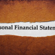 Stock Photo: Personal financial statement