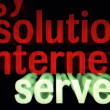 Solution internet server — Stock Photo